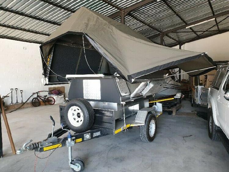 Aha camper on trailer