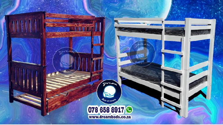 Double bunk bed + 2 long lasting mattresses - free delivery