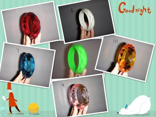 Fashion ladies bangle - blue,white,pink,orange,red,green