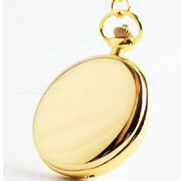 Fashion polish smooth quartz pocket watch jewelry alloy