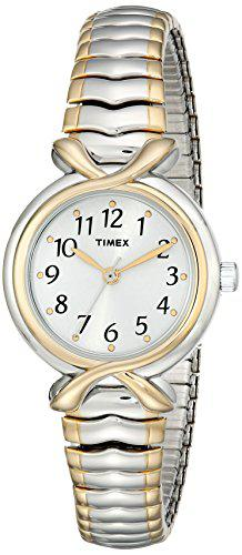 Timex women's t21854 pleasant street two-tone stainless