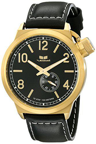 Vestal unisex ctn3l13 canteen leather analog display analog
