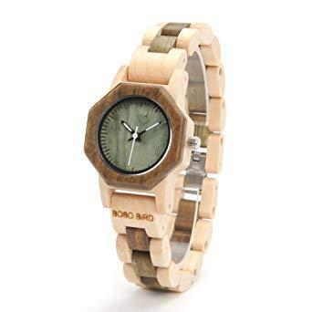 Wooden womens watches analog wrist watch full wood band wood