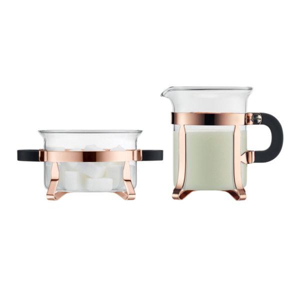 Bodum Chambord Copper Sugar & Creamer Set