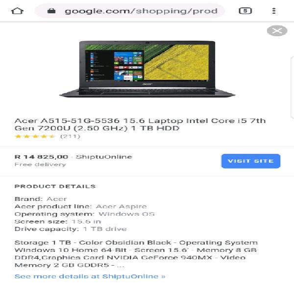 New acer aspire 5 intel core i5 7th generation gaming