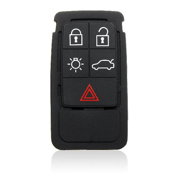5 buttons remote key rubber pad replacement for volvo s60