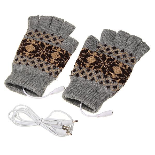 5v 1.5m usb warmer gloves removable heated half finger
