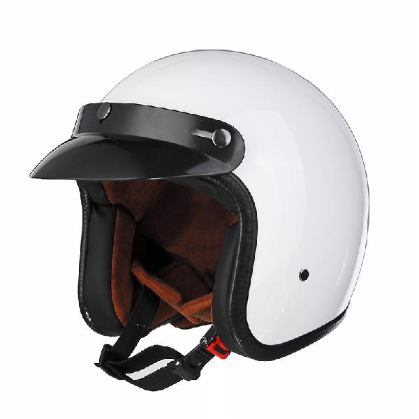 Black/white abs motorcycle vintage helmet open face for