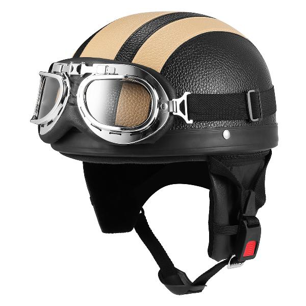 Full face motorcycle helmet with sunglasses sun shield scarf