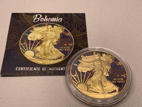 2018 1 oz american eagle silver - bohemia