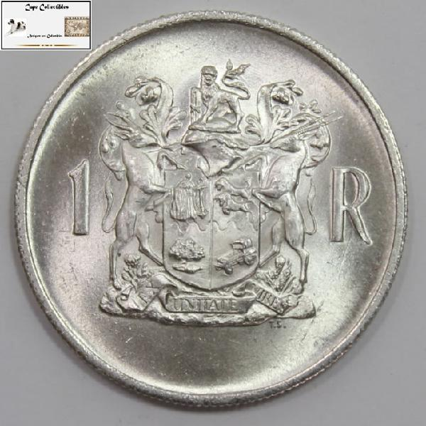 South africa 1 rand 1969 coin commemorative issue ef40.