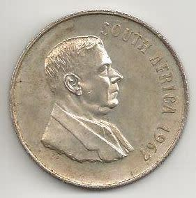 South african r1 **one rand** coin (1967)