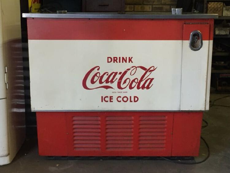 Vintage coke fridge