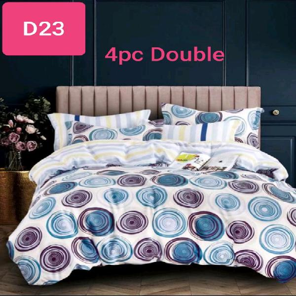 100% cotton 4pc double bed duvet cover sets