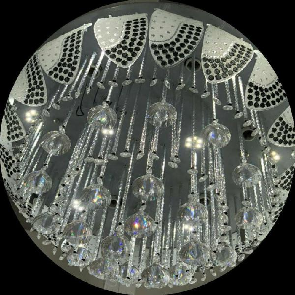 Crystal lamp living room led ceiling lights, circular,