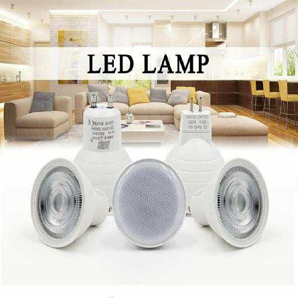 Gu10 mr16 led 220v 12v bulb low consumption 5w 7w replace