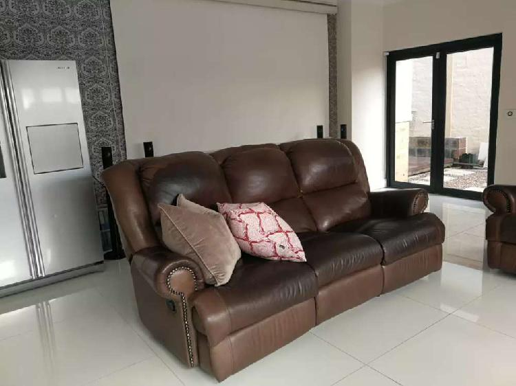Leather couch 3 piece