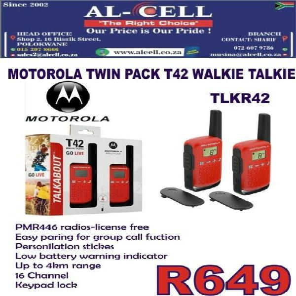 Motorola twin pack walkie talkie tlkr42