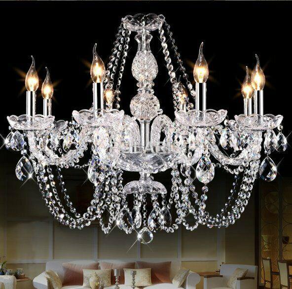 Modern luxury k9 crystal chandelier lighting led pendant
