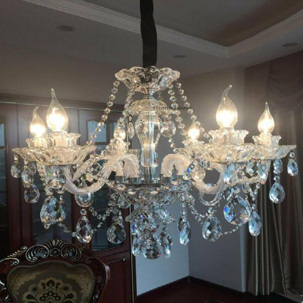 Vintage rustic crystal chandelier lighting candle