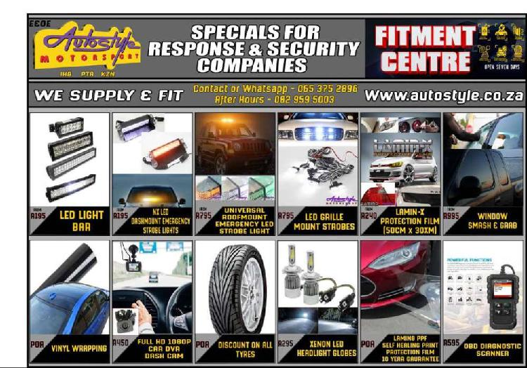 Specials for security and response companies, led light bars