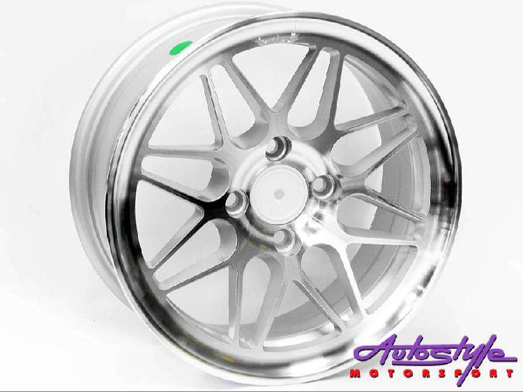 14 inch cl 46 4 hole silver alloy wheels also suitable vw