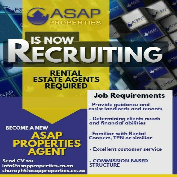 Sales estate agents required