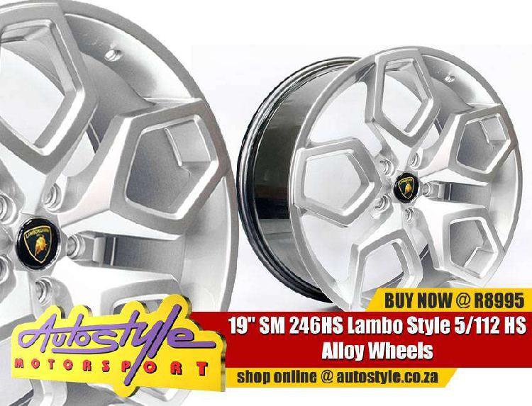 19 inch sm 246hs lambo style 5-112 hs alloy wheels - 5-112
