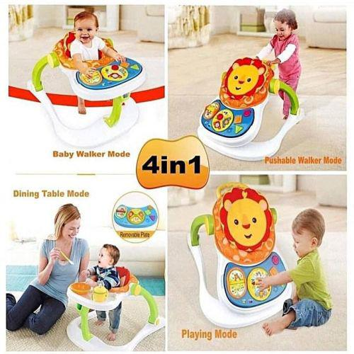 4 in 1 baby lion entertainer activity toy play walker feeder