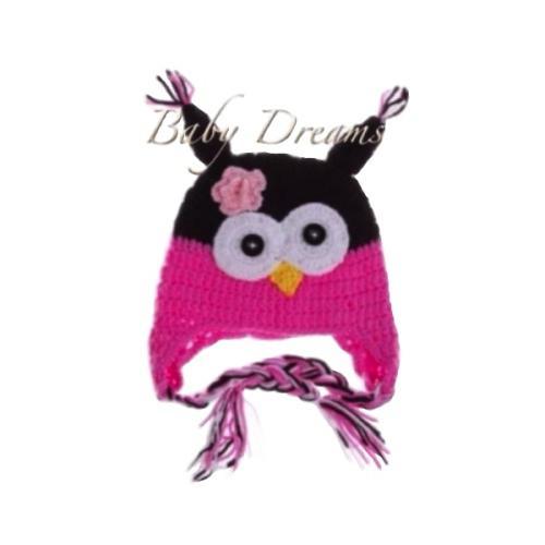 Baby beanie high quality woollen owl beanie/cap accessory
