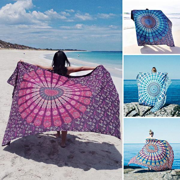 Honana wx-17 150x210cm bohemian style polyester fiber beach