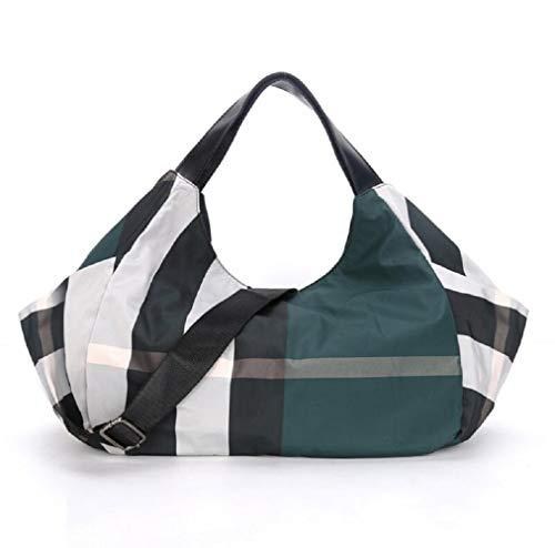 Jinsun multifunction checkered shoulder bag diaper bag