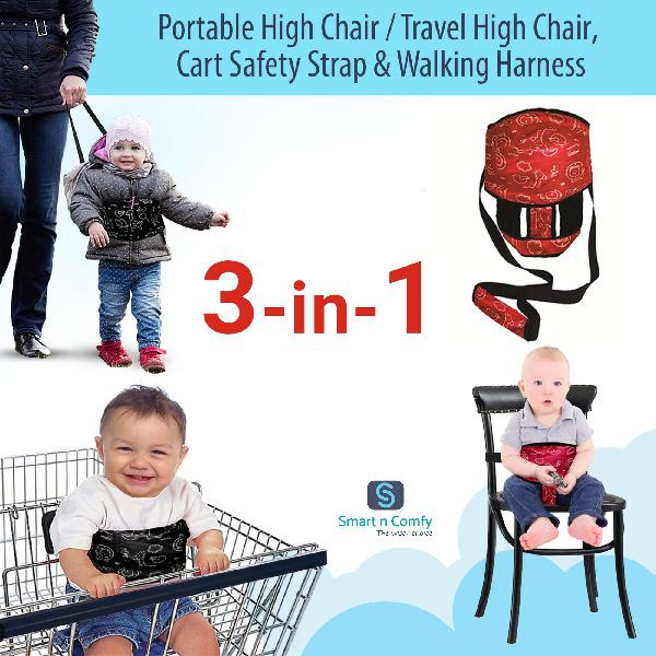 Smart n comfy 3-in-1 travel high chair + portable high chair