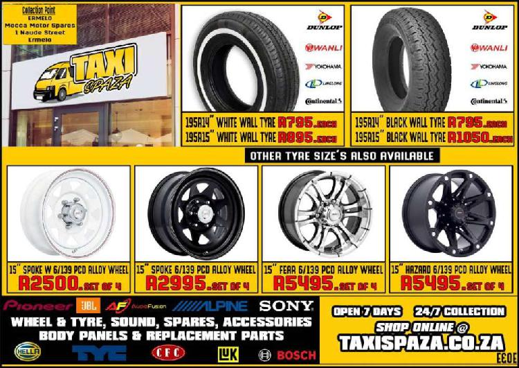 Toyota quantum quantam and other taxi brand new tyres,