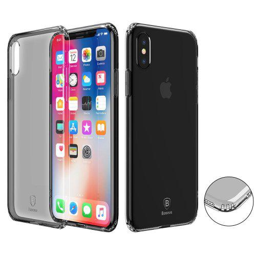 Baseus black transparent iphone x cover (parallel import)