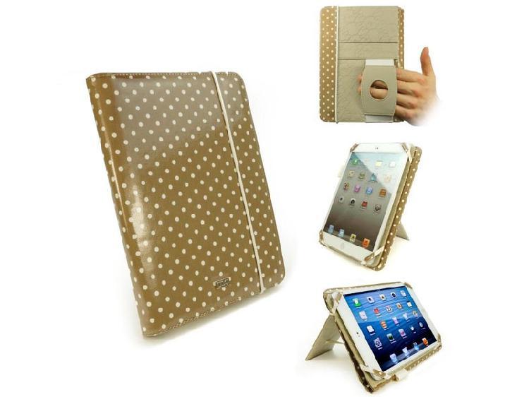 Tuff-Luv Embrace Pro - Polka Gold/Beige - for iPad Mini