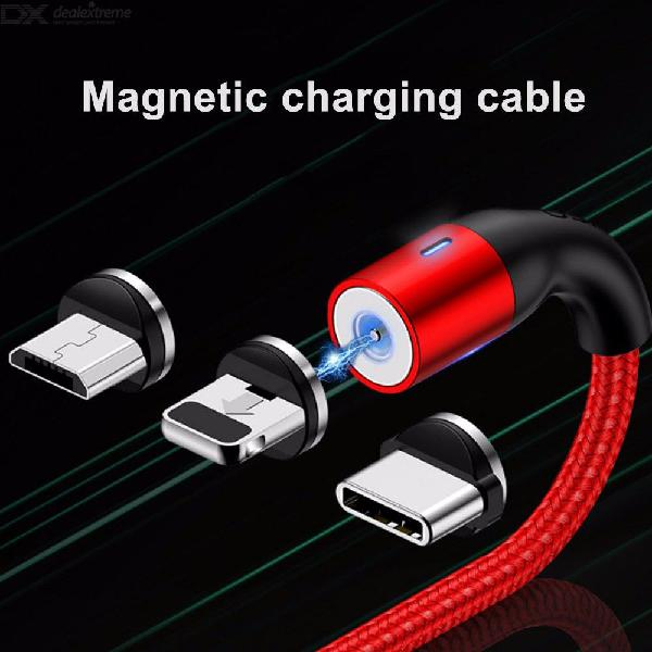 USAMS Magnetic Cable 3A Micro USBType-CLightning Charge Cord