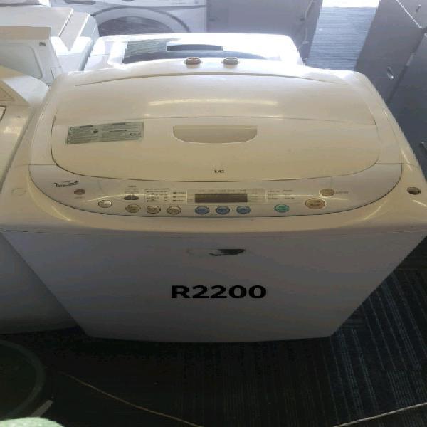 White lg 13kg turbo drum top loader washing machine