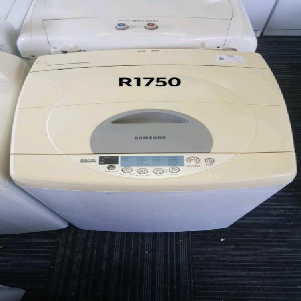 White samsung 10kg top loader washing machine