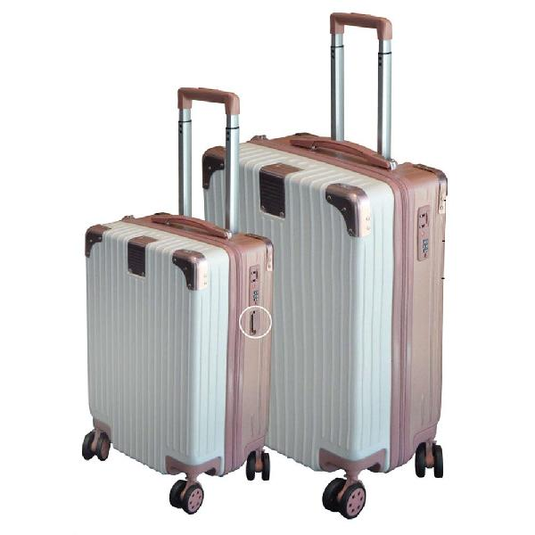 Eco earth berlin 2 pc luggage spinner set | cream/dusty pink
