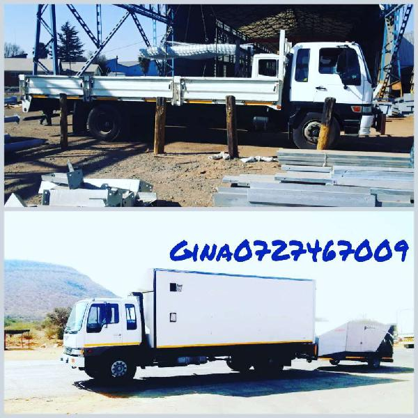 Trucks for hire (8 tons closed body&dropside)