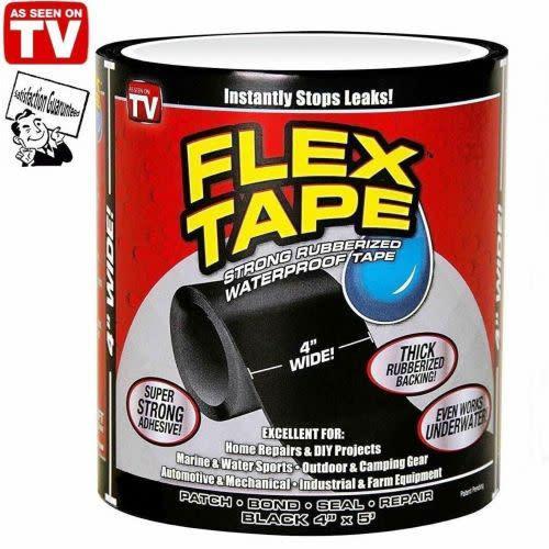 """4"""" x 5' flex tape patch bond super strong rubberized"""