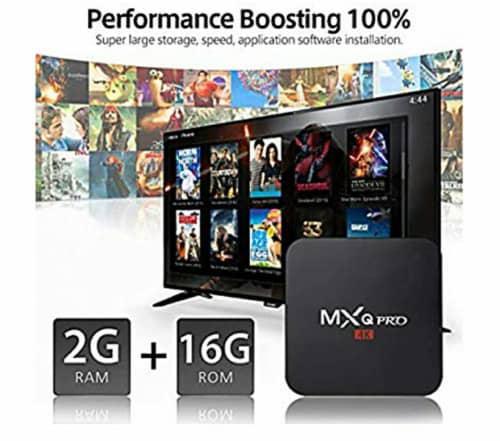 Mxq pro 4k uhd 2gb ddr4 ram / 16gb rom android tv box