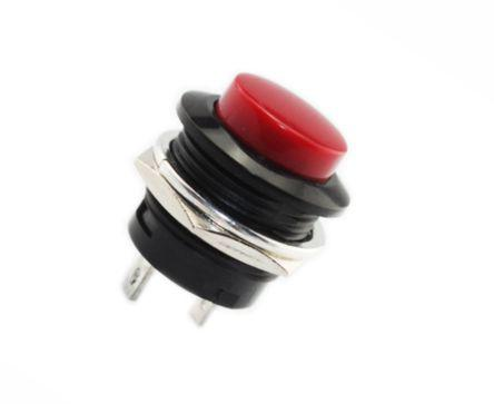 PUSH BUTTON RED N.O. 19mm 3-6A R13-507-RD / 170738