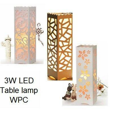 Pvc wood-plastic lamp - various designs