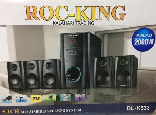 Roc-king 5.1ch multimedia speaker system...p.m.p.o 2000w