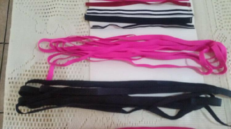 Stretch shoulder strap ribbons