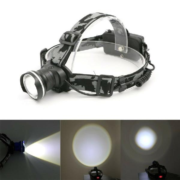 Ultra bright cree t6 1000lm led zoom headlamp headlight