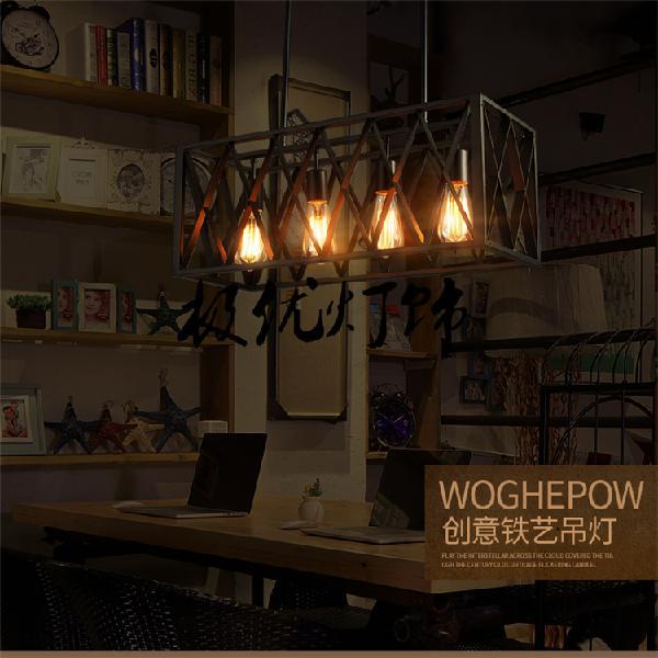 Vintage pulley pendant lights loft style light kitchen