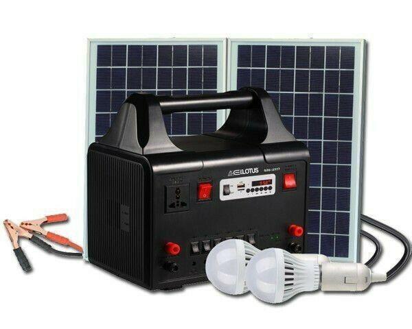Brand new* everlotus 20w solar lighting bluetooth speaker